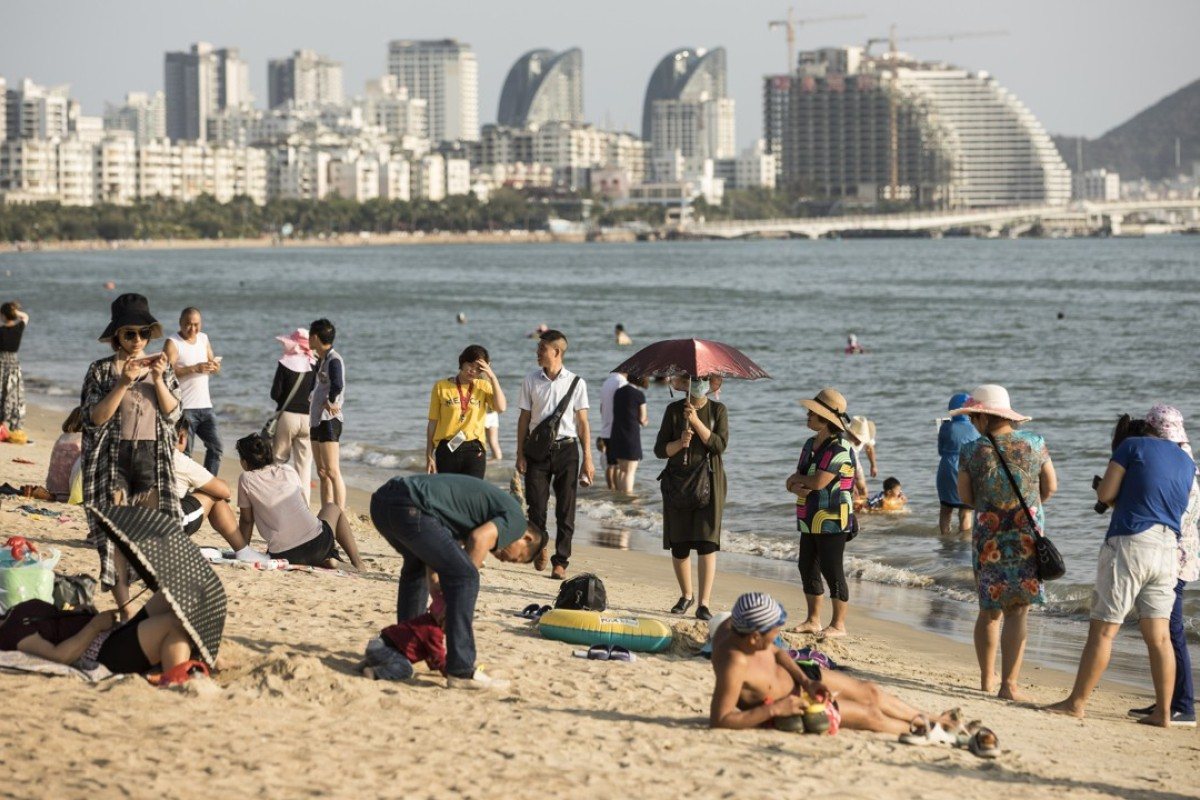 Sanya Bay beach in Hainan province, China. Photo: Bloomberg