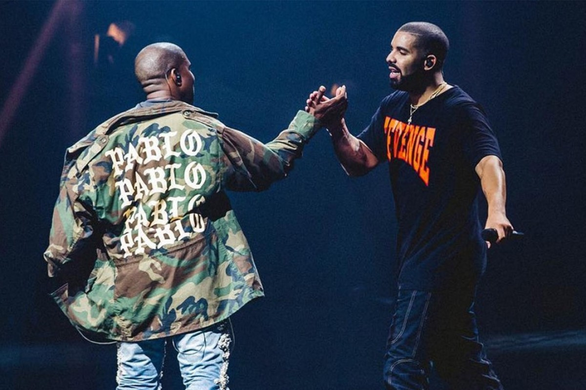 Rapper Kanye West (left) has been criticised by many celebrities, including Drake (right), for tweeting his support for US President Donald Trump. Photo: @CHAMPAGNEPAPI