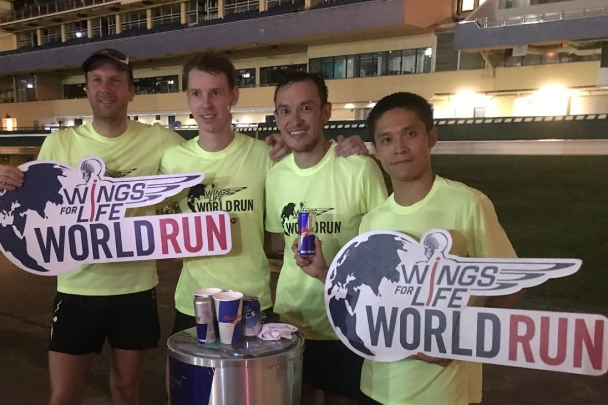 Brian McFlynn [second from left] ran 50.8km, John Ellis [centre right] clocked 44.7km and Ingo Wende and Tat Tat rounded out the top four runners in Hong Kong. Photo: Handout
