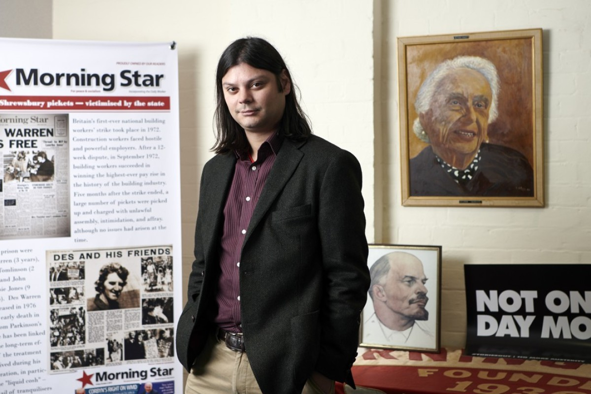 Ben Chacko editor of the Morning Star newspaper. Picture: Micha Theiner