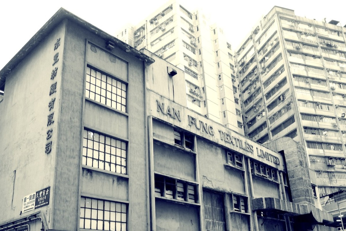 Nan Fung Textiles, in Tsuen Wan, circa 2011. The former textile factory will reopen later this year as arts complex, The Mills. Picture: MILL6 Foundation