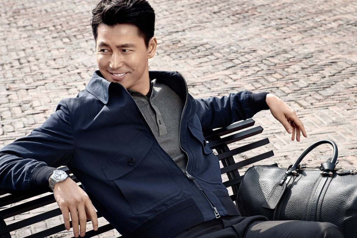 South Korean actor and Longines ambassador Jung Woo-sung wears the new Longines Conquest V.H.P. timepiece.