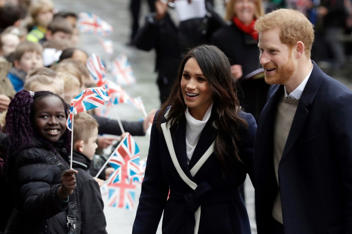Britain's Prince Harry (right) and his fiancée, Meghan Markle, will be married at Windsor Castle on Saturday, May 19. Photo: AP