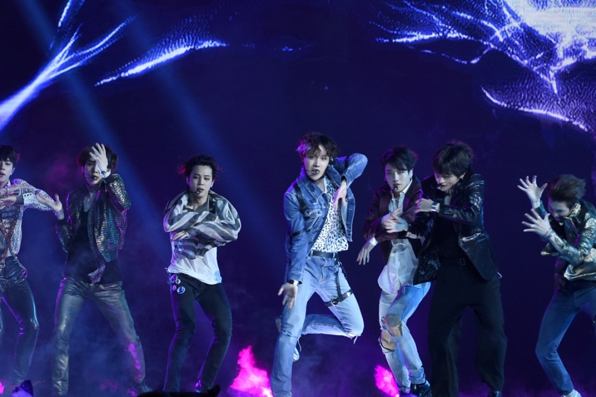BTS performs 'Fake Love' at the Billboard Music Awards on Sunday. Photo: Chris Pizzello/Invision/AP