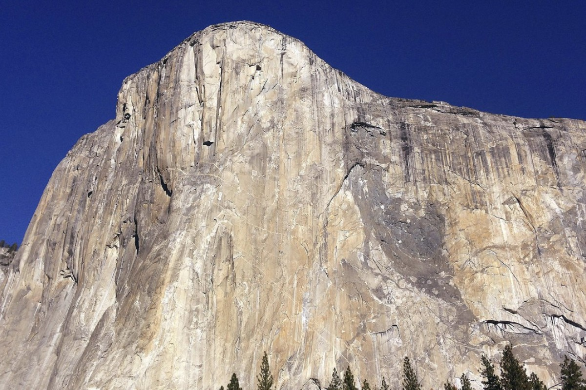 The iconic El Capitan rock face is nearly 900m high and Alex Honnold and Tommy Caldwell climbed it in just over two hours. Photo: AP Photo/Ben Margot