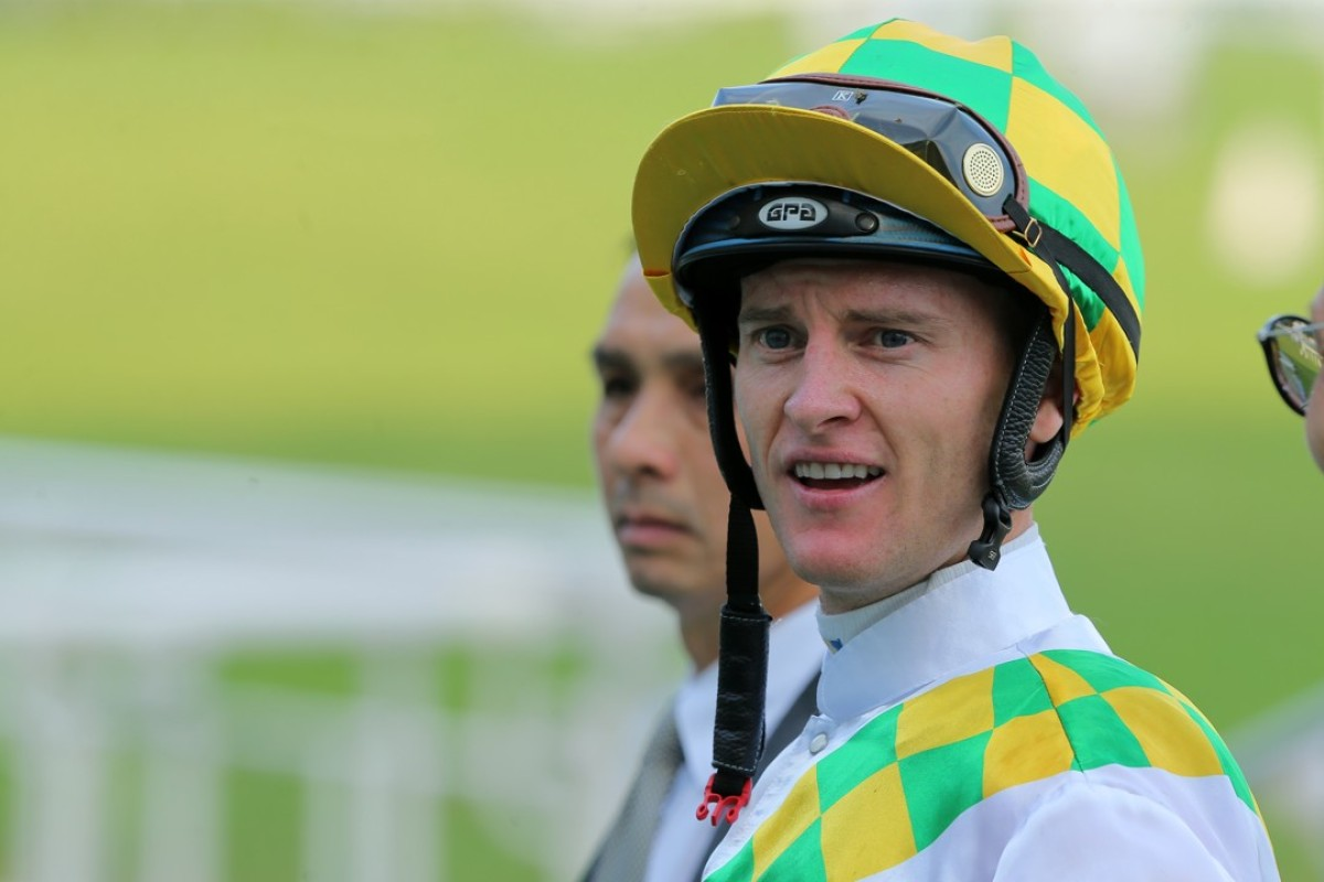 Zac Purton is sizzling after Comfort Life back to scale to complete his double for the day at Sha Tin. Photos: Kenneth Chan