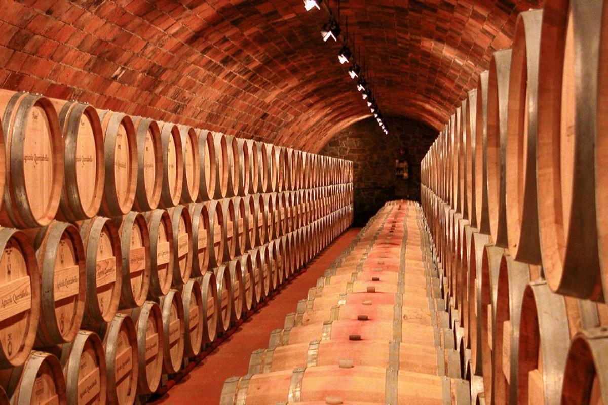 The cellar at Querciabella, which makes biodynamic wines. Picture: Alamy