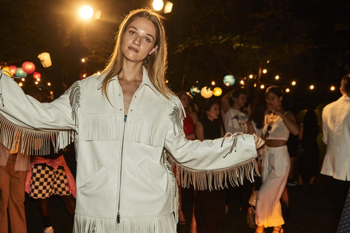 A model displays a look from Stella McCartney's spring collection at the after party.