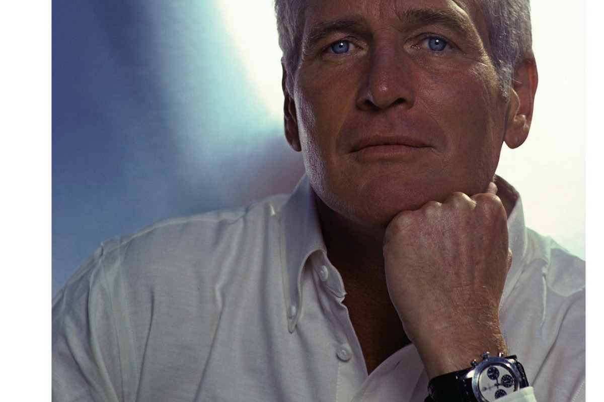 The late American actor Paul Newman wearing his Rolex Daytona chronograph, which sold for a record US$17.75 million at auction in 2017. Photo: Corbis/Getty Images