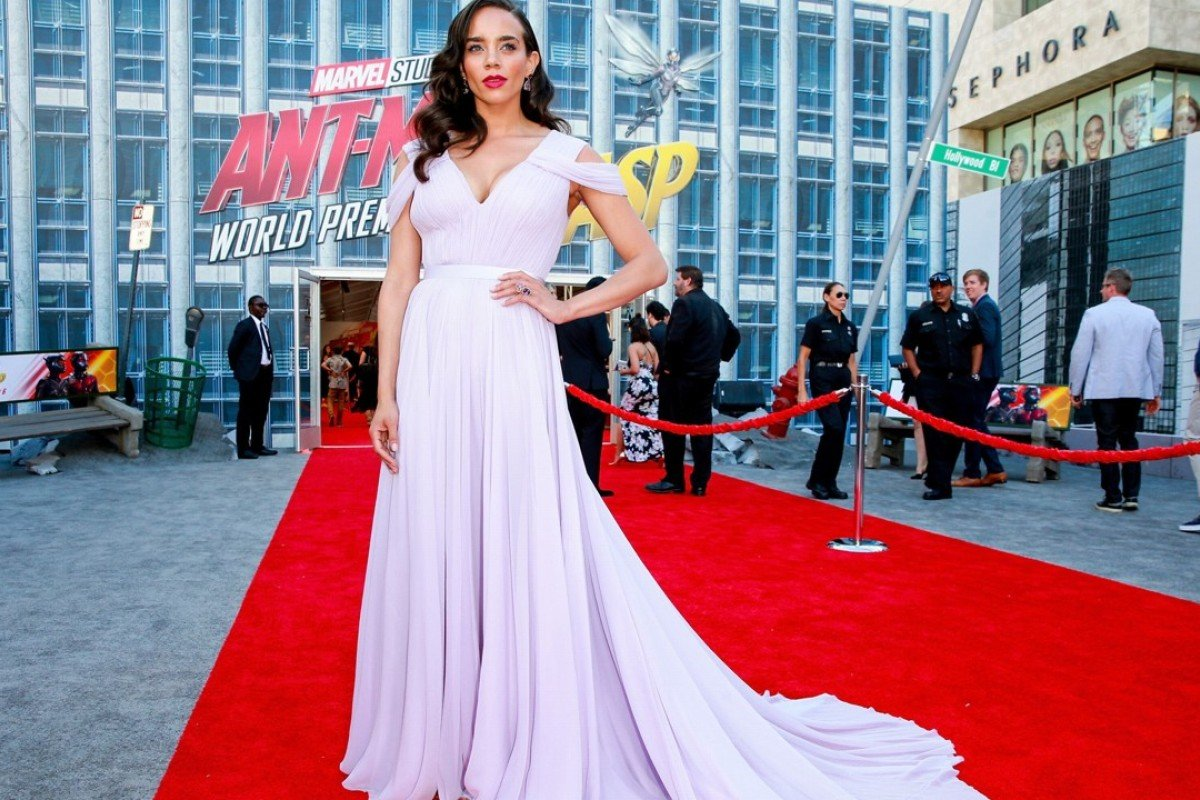 British actress Hannah John-Kamen, who plays supervillain Ghost in Marvel's 'Ant-Man and The Wasp', on the red carpet at the film's Los Angeles premiere on June 25. Photo: Getty Images/AFP