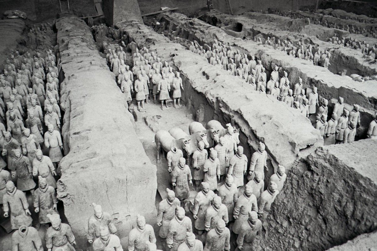 The famous terracotta warriors at Xian, Shaanxi province. Picture: SCMP