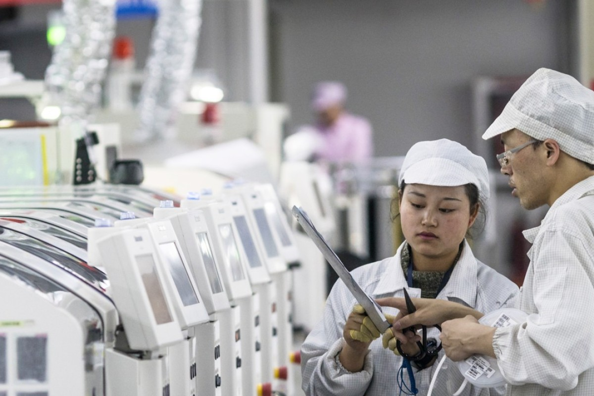 A Foxconn smartphone factory in China. Photo: EPA