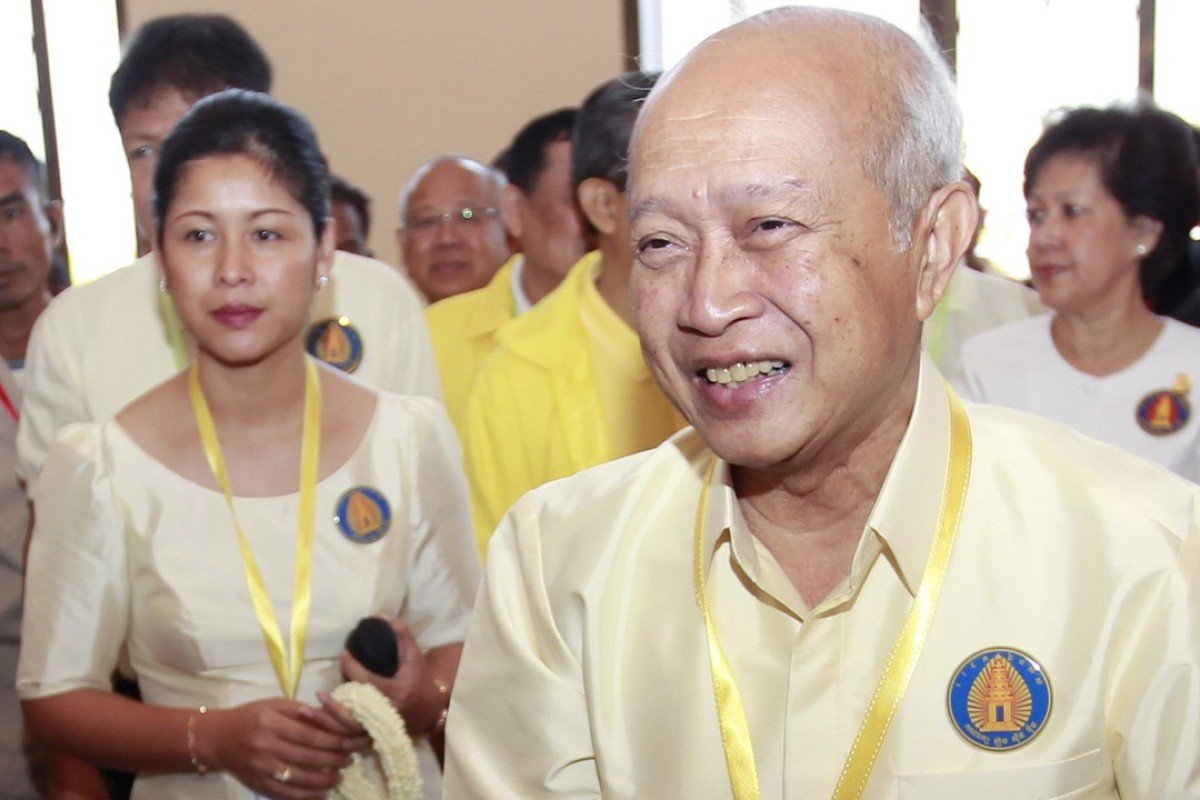 Cambodian Prince Norodom Ranariddh and his wife Ouk Phalla were in a head-on collision on June 17. The crash killed the prince's wife. Photo: EPA