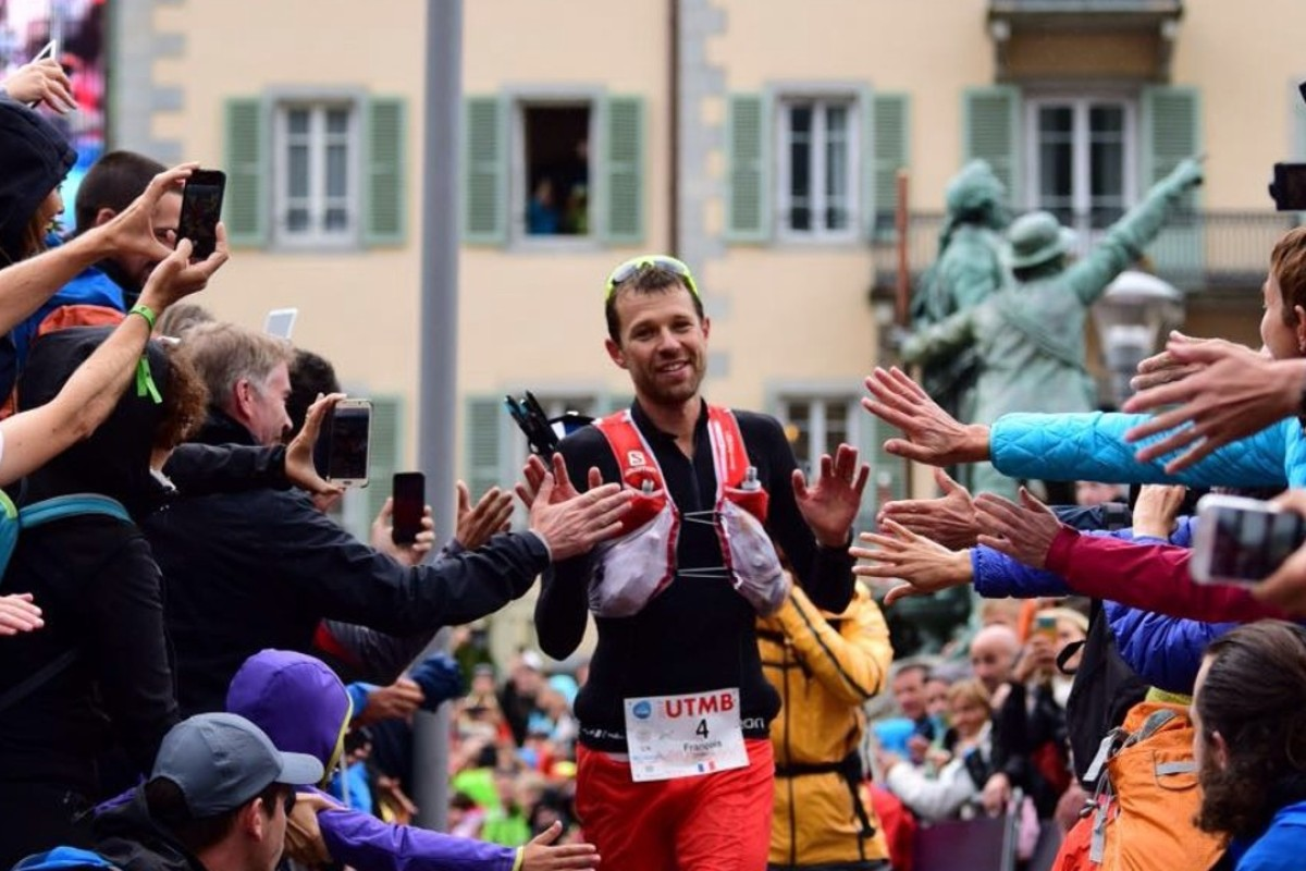 Francois d'Haene wins the 2017 UTMB – the last winner to cross the line ahead of this year's introduction of prize money. Photo: Hoka One One