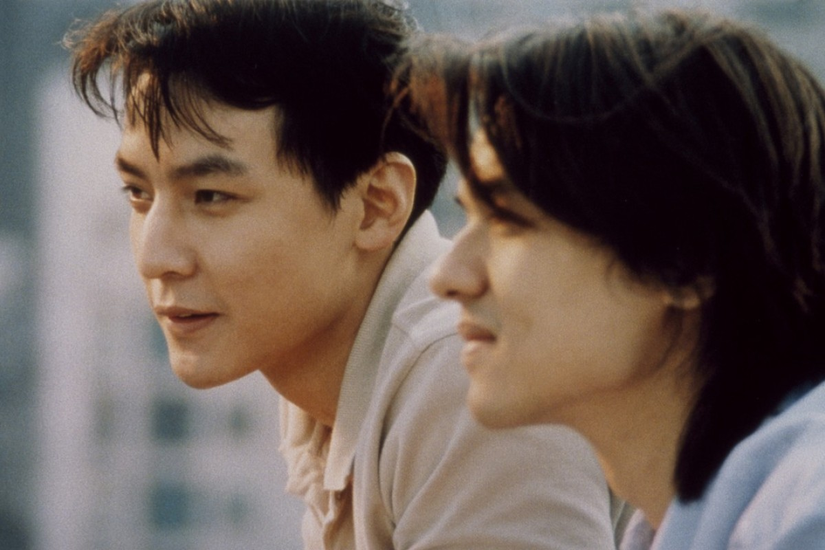 Daniel Wu (left) and Stephen Fung play lovers in Bishonen (1998).