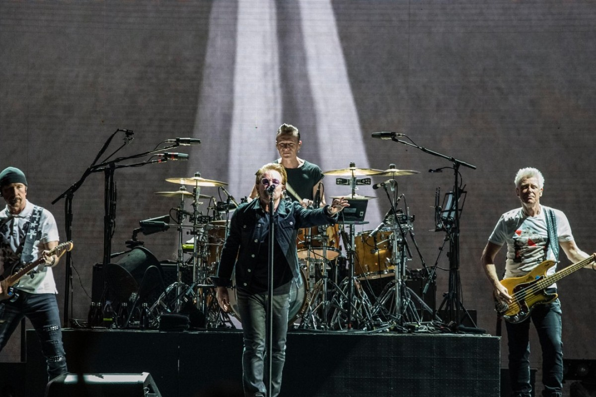 U2, Ireland's biggest musical export, performs at Stadio Olimpico in Rome, Italy, in July 2017.