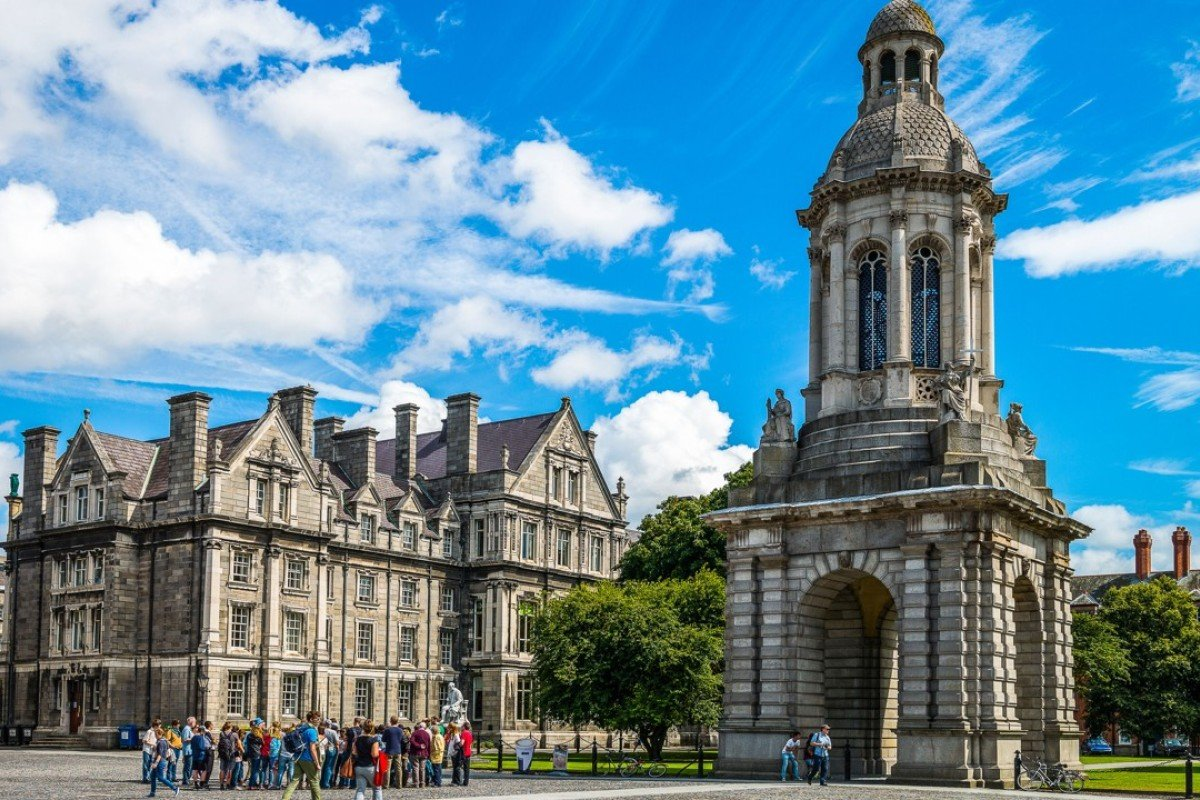 The Campanile of Trinity College, in Dublin, Ireland. Pictures: Alamy