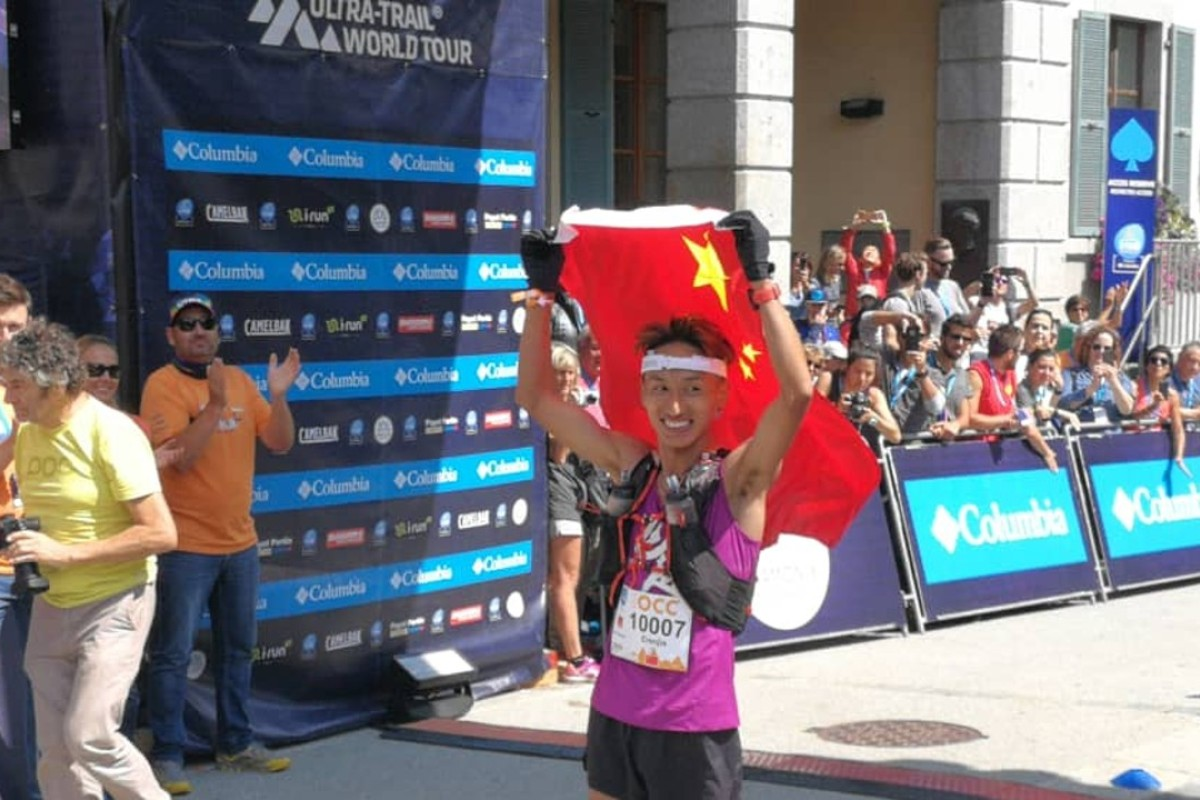 Jia Erenjia becomes the first Chinese runner to win any event at the UTMB. Photos: Pavel Toropov