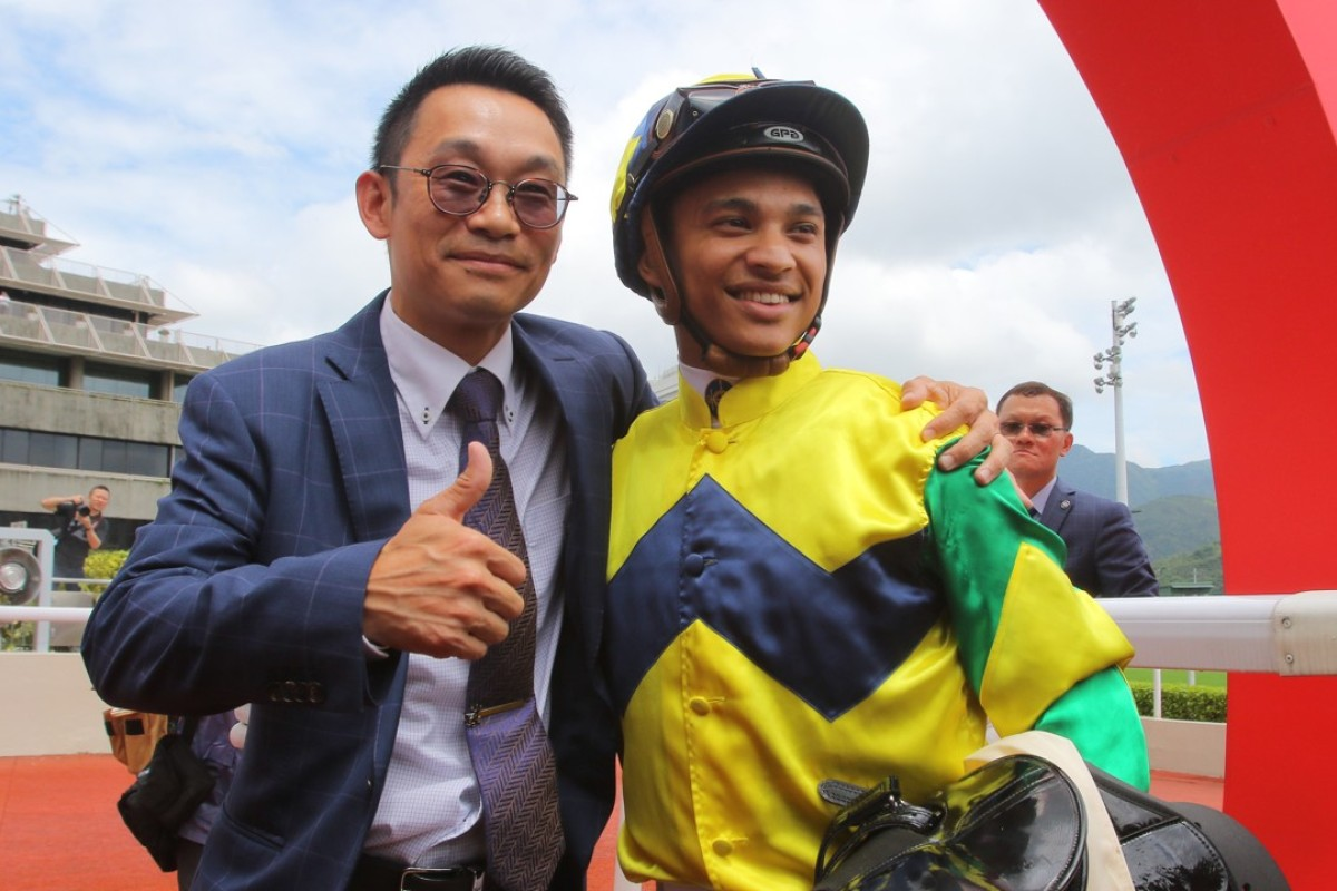 Jimmy Ting and Grant van Niekerk celebrate their perfect start. Photos: Kenneth Chan