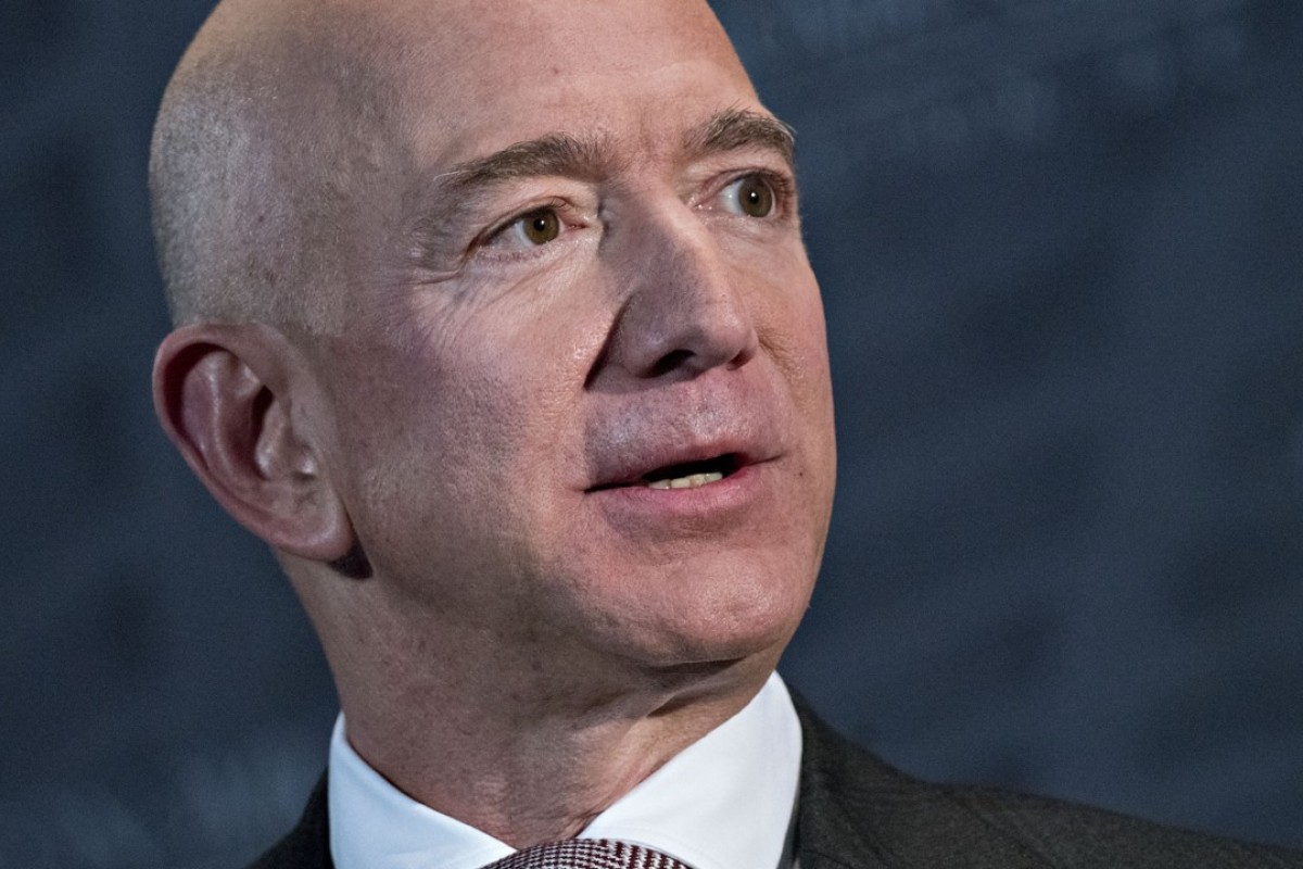 Jeff Bezos, founder and CEO of Amazon, the world's richest person, who announced two philanthropic goals on Thursday. Photo: Bloomberg