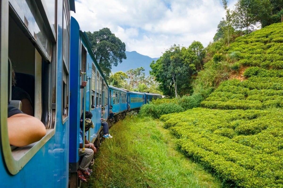 The scenic train journey from Kandy to Ella, through Sri Lanka's tea plantations. Picture: Alamy