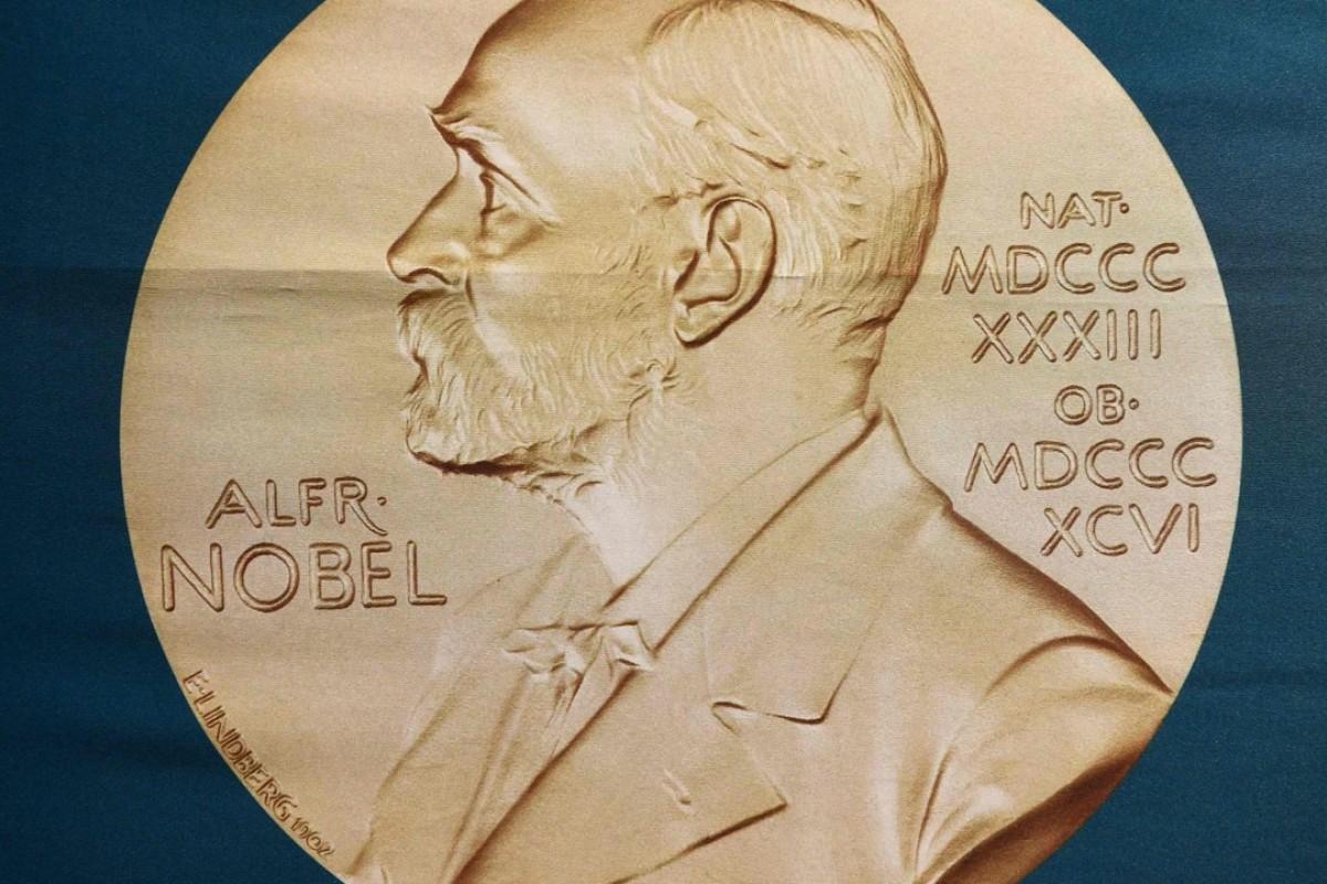A portrait of Swedish inventor and scholar Alfred Nobel on display at the Nobel Forum in Stockholm, Sweden. Photo: AFP