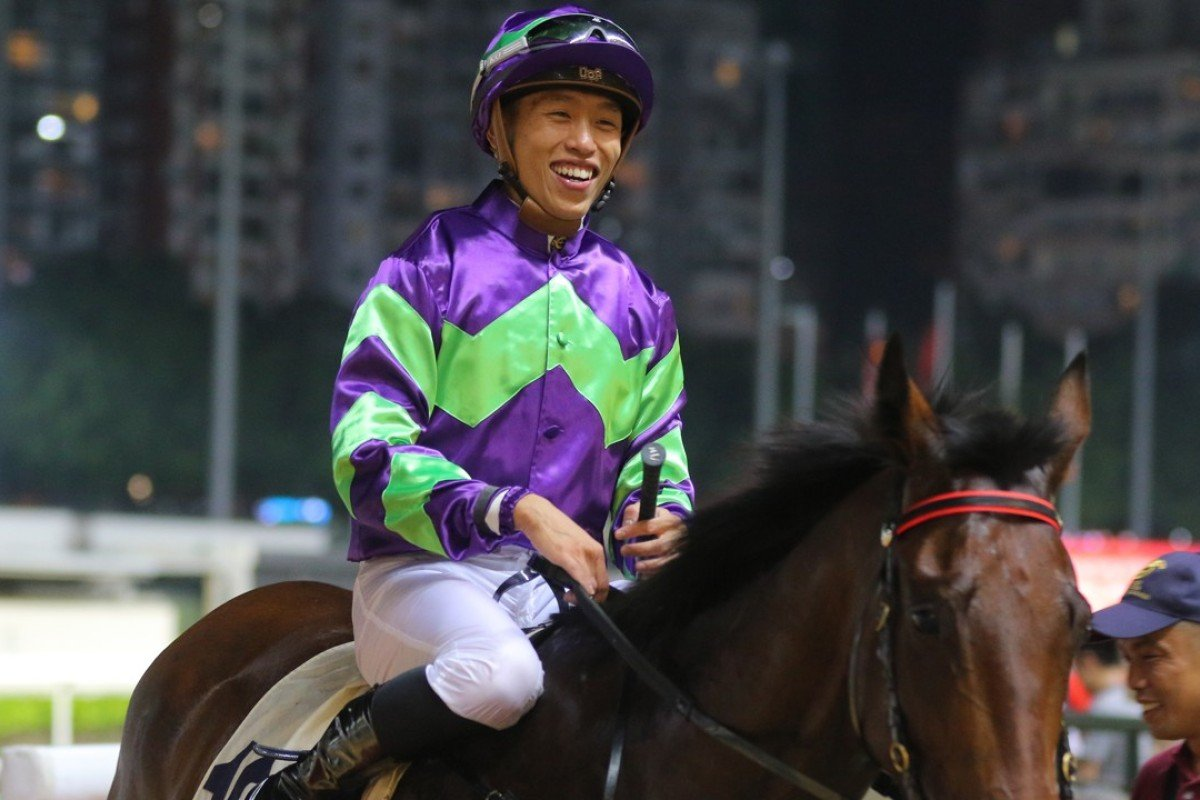 Vincent Ho returns after winning on Universal Go Go at Happy Valley earlier this season. Photos: Kenneth Chan