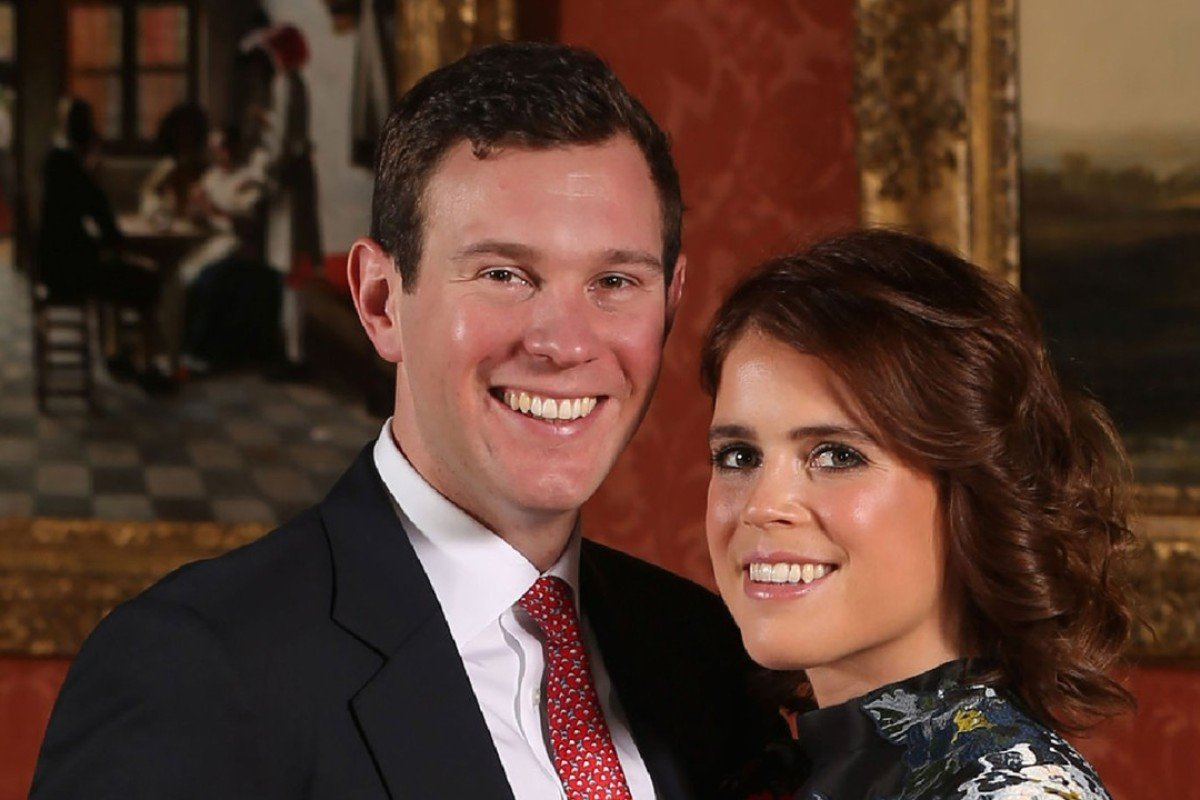 Britain's Princess Eugenie of York ties the knot with Jack Brooksbank in the Picture Gallery at Buckingham Palace in London today. Photo: AFP
