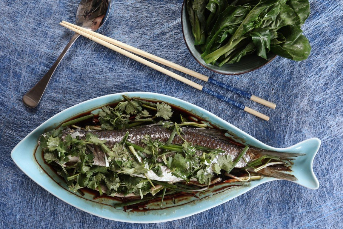 Susan Jung's recipe for steamed fish with ginger, spring onion and coriander. Photography: Jonathan Wong. Styling: Nellie Ming Lee