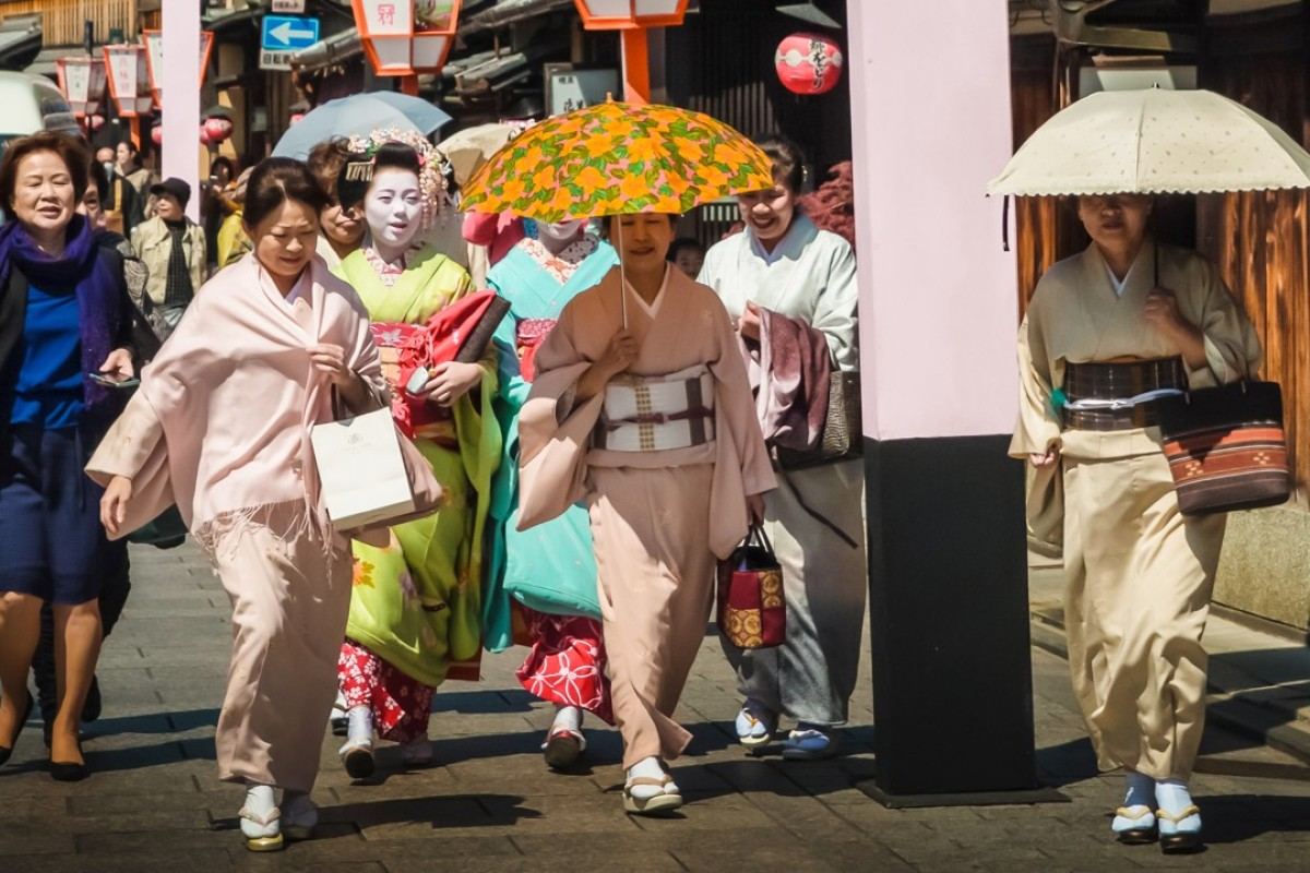 Gion, Kyoto's geisha district, is frequently inundated with tourists.