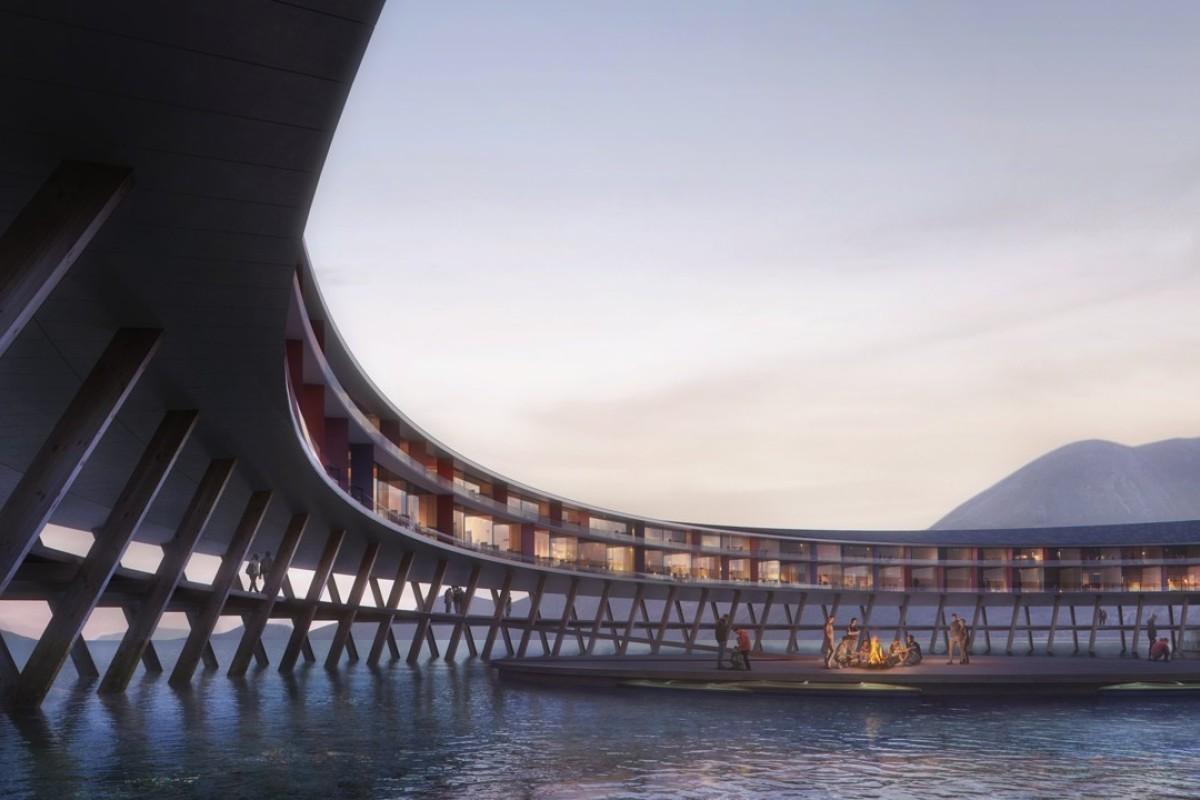 The circular-framed Svart Hotel in Norway promises an Arctic getaway like no other. Photos: Svart Hotel / Snøhetta Plompmozes