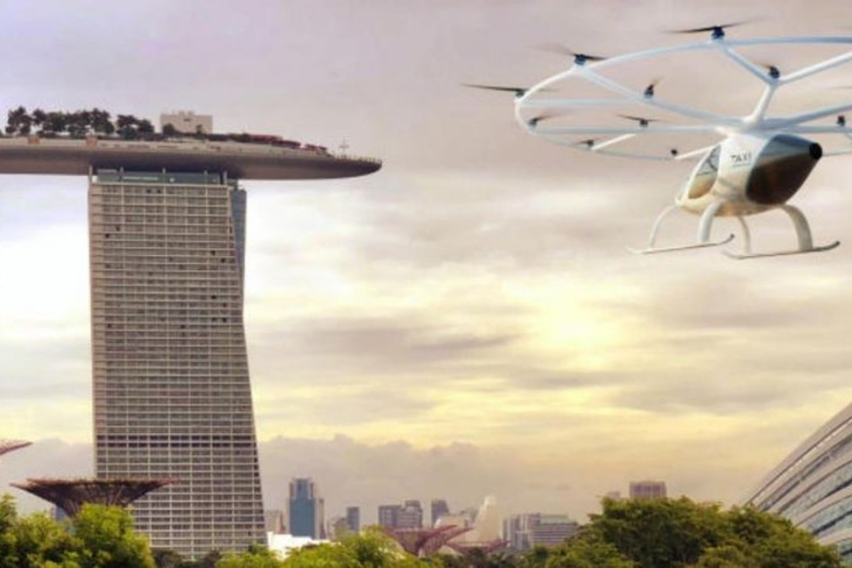 The first air taxi trials are set to take place in Singapore in the second half of 2019. Photo: Volocopter