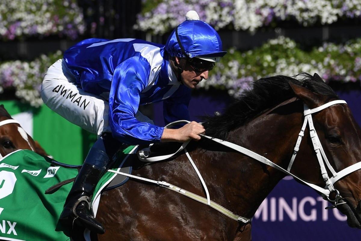 Hugh Bowman rides Winx to victory. Photo: EPA
