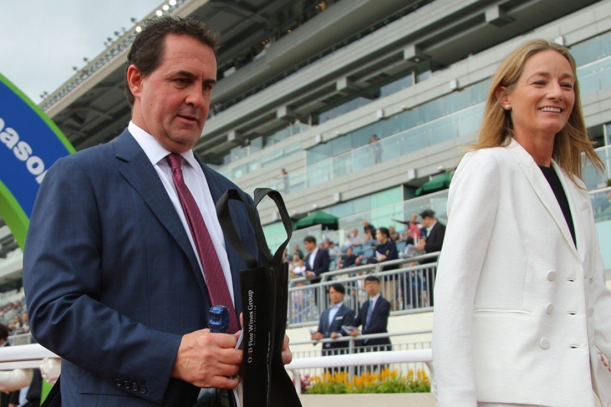 Michael Freedman with his wife Anna after winning at his last meeting in Hong Kong. Photos: Kenneth Chan
