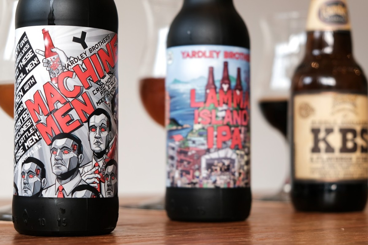 Craft beer is taking Hong Kong by storm with a few favourites, such as the Machine Men pale ale, the stout by Founders called KBS and the Lamma Island IPA.