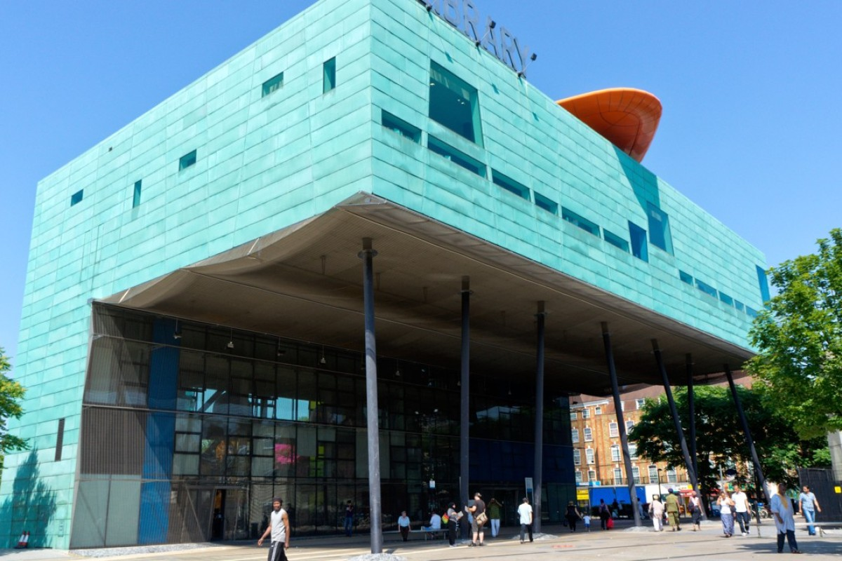 Peckham Library, designed by Will Alsop, in south London, Britain. Picture: Alamy