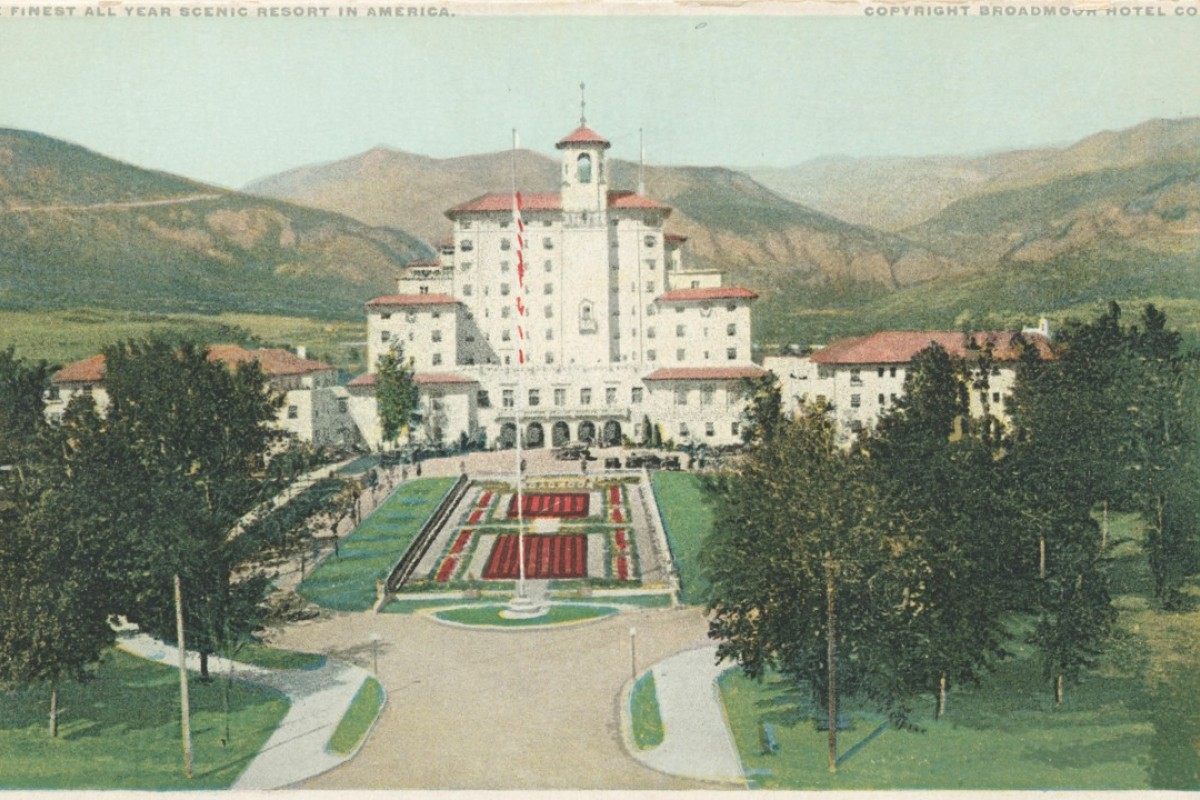 """An old postcard for The Broadmoor, which calls it the """"finest all year scenic resort in America"""". Picture: Alamy"""