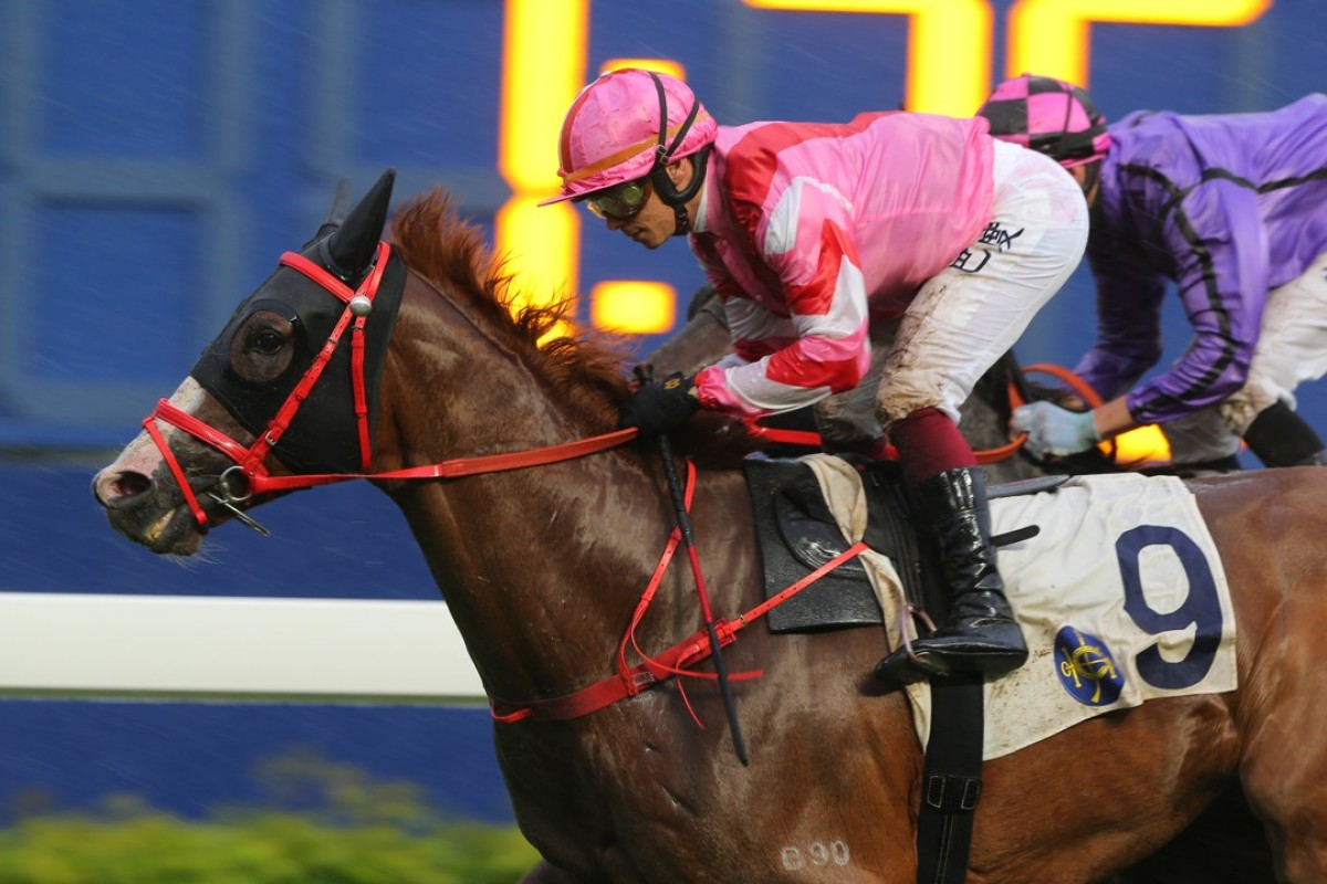 Alexis Badel guides Simply Brilliant to victory at Sha Tin on Sunday. Photos: Kenneth Chan