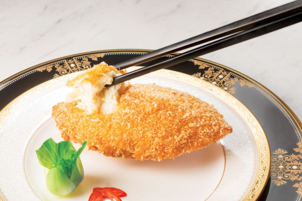 Crab shell from T'ang Court in Hong Kong. The restaurant has three Michelin stars.