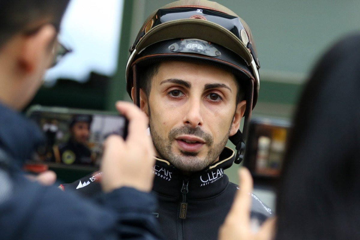 Alberto Sanna at trackwork at Sha Tin recently. Photos: Kenneth Chan