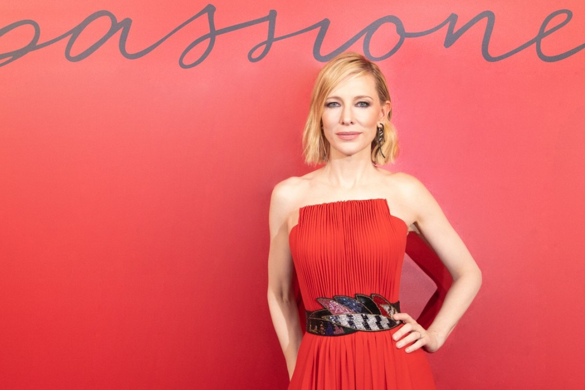 Giorgio Armani's global beauty ambassador Cate Blanchett attends the launch party.