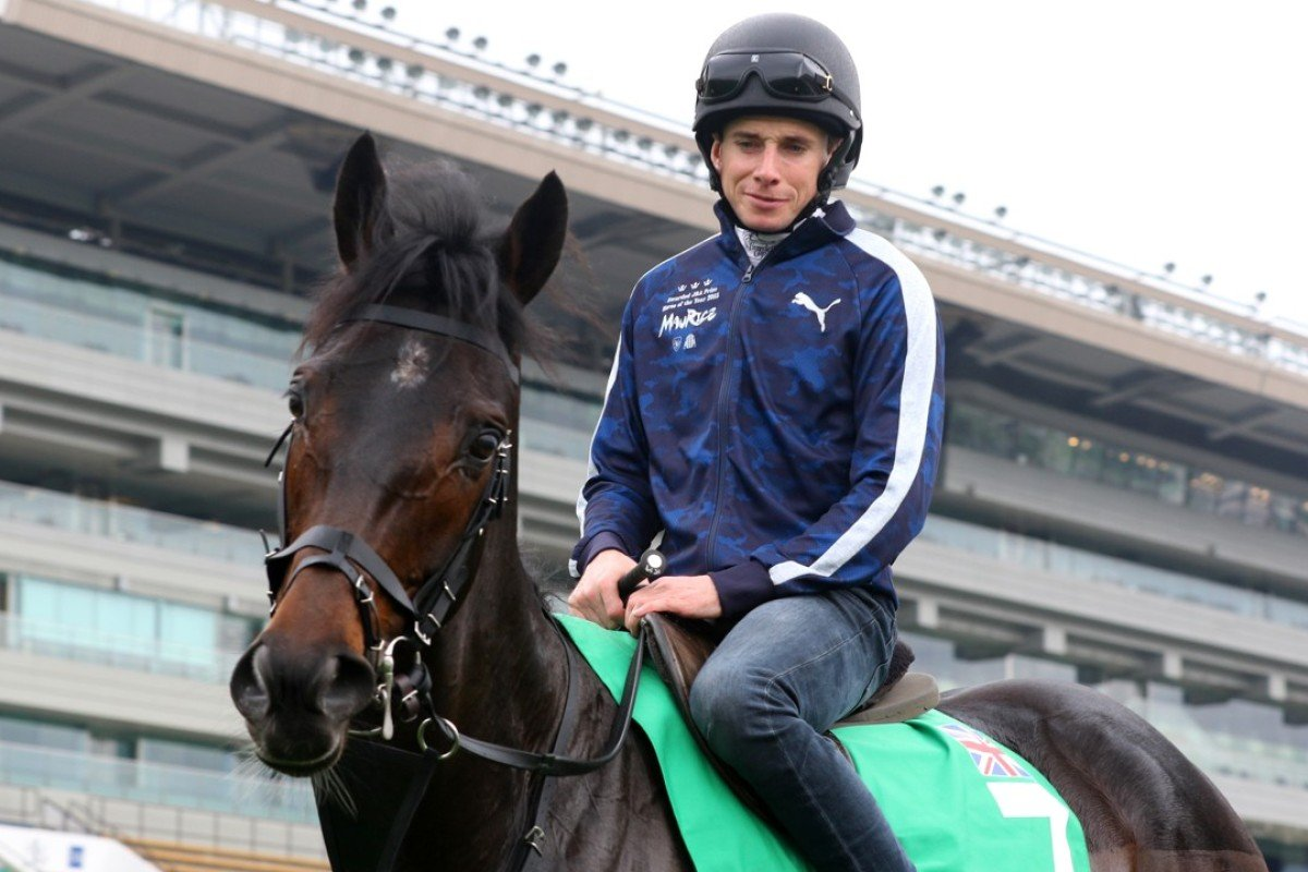 Ryan Moore rides Mirage Dancer at Sha Tin on Thursday morning. Photo: Kenneth Chan