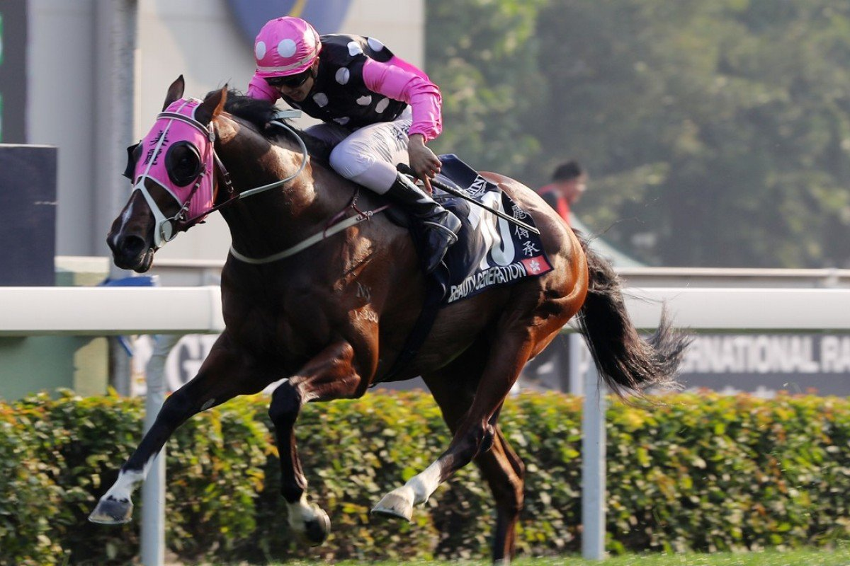 Beauty Generation wins last year's Hong Kong Mile. Photos: Kenneth Chan