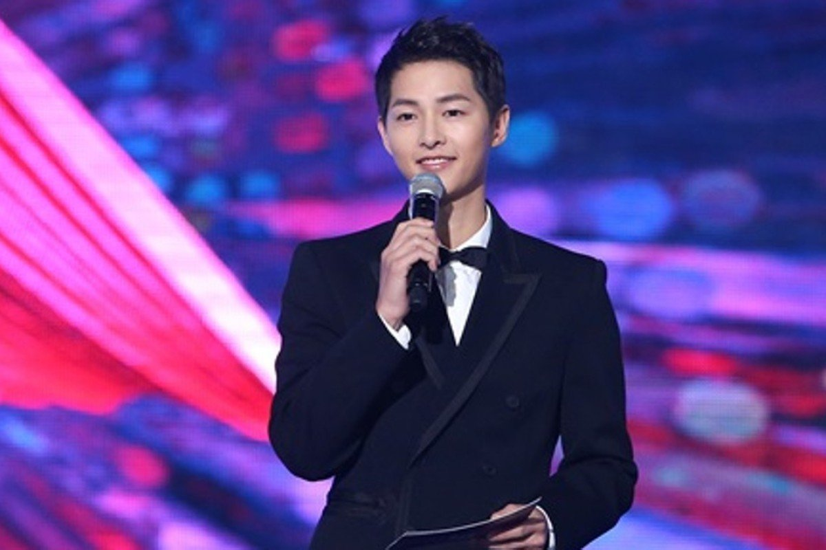 Korean mega-star Song Joong-ki hosted the event, his first public appearance since marrying his Descendants of the Sun co-star Song Hye-kyo last month. Photo: Handout