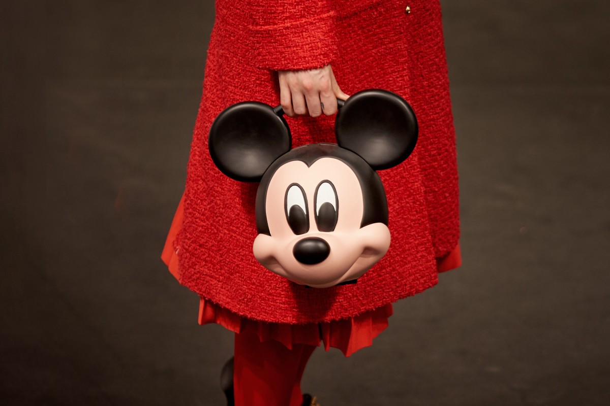 A collaboration with Walt Disney led to Gucci's spring/summer 2019 collection featuring Mickey Mouse-head handbags, which mark the 90th anniversary of the cartoon character.