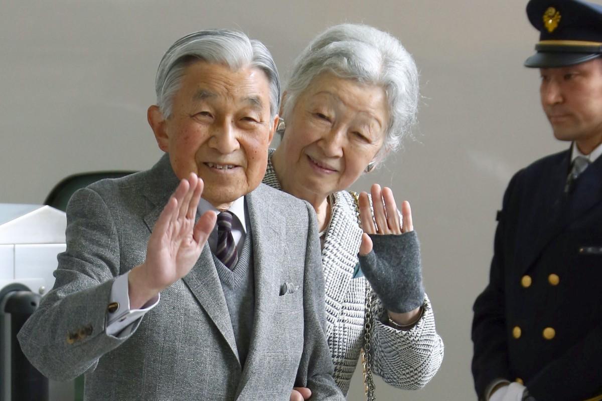 Japanese Emperor Akihito and Empress Michiko. Photo: Kyodo