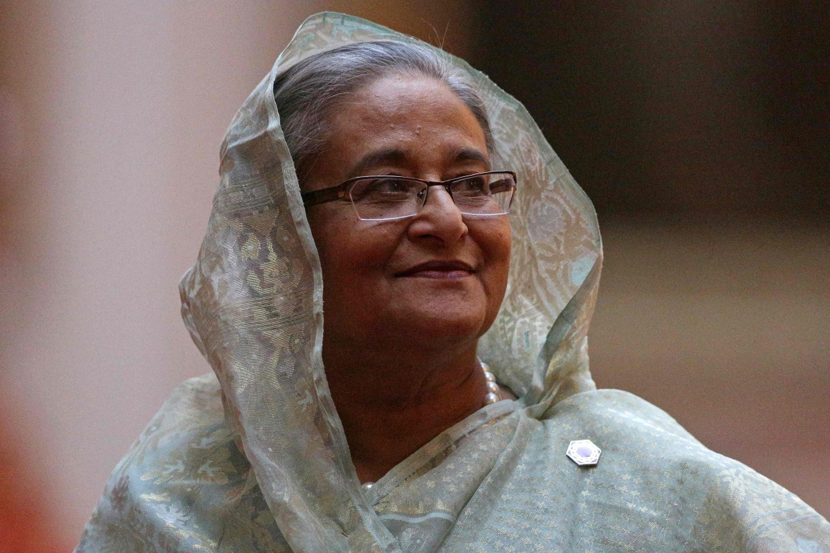 Bangladesh's Prime Minister Sheikh Hasina won her fourth consecutive term as leader on Sunday. Photo: AFP