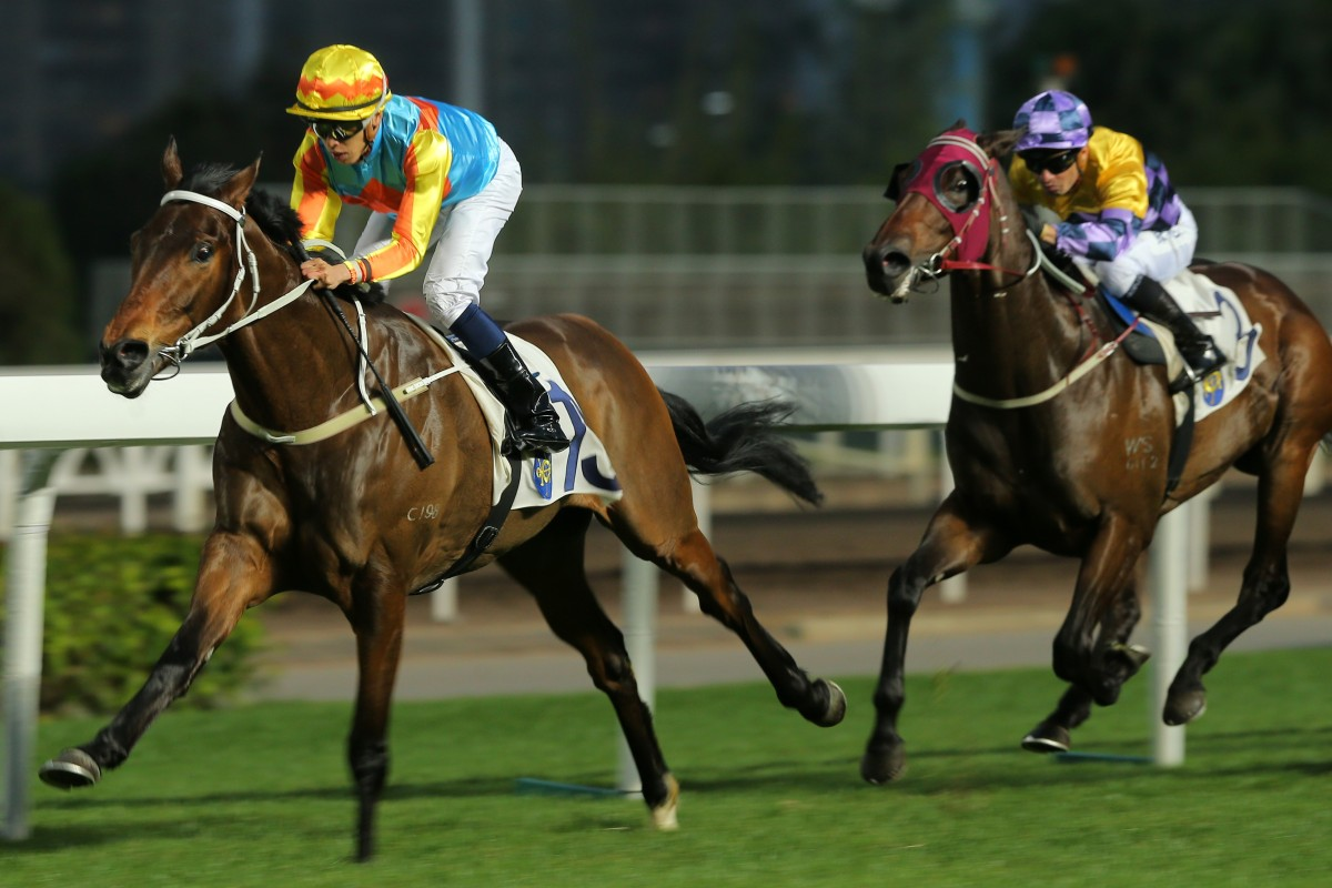 Vincent Ho guides Ka Ying Star to a debut victory at Sha Tin. Photo: Kenneth Chan