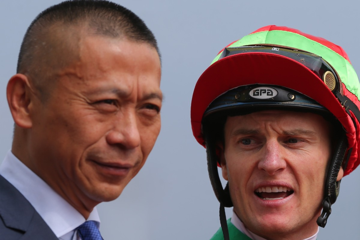 Danny Shum and Zac Purton after winning a race earlier this season. Photos: Kenneth Chan
