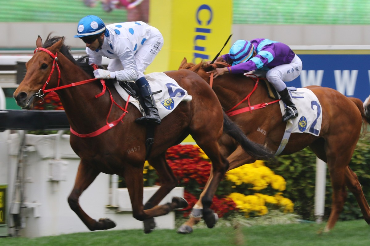 Joao Moreira pilots Enrichment to victory. Photos: Kenneth Chan